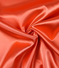 SATIN FUTTERSTOFF elastisch Orange