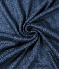STRICKJERSEY ZION Viscose Navy