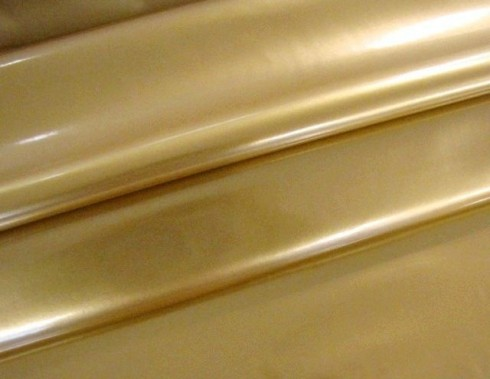 LACK-KUNSTLEDER STRETCH Gold