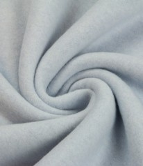 ORGANIC COTTON FLEECE 100% Baumwolle Hell Blau Melange