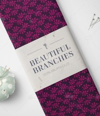 Baumwolle Canvas - Beautiful Branches by Lycklig Design - BEERE AUBERGINE