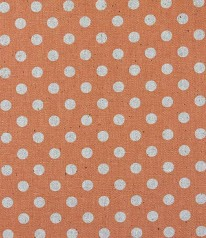 CANVAS LEINEN SEVENBERRY Glitzer Punkte Silber Orange