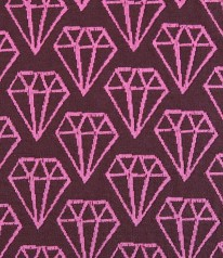BIO 3D Jacquard Hamburger Diamonds Pink Braun