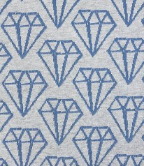 BIO 3D Jacquard Hamburger Diamonds Blau Grau