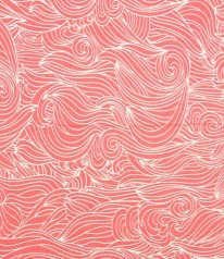 BAUMWOLLE Voile Waves Coral by Lila Lotta