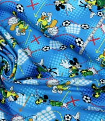 JERSEY MICKEY MOUSE Mickey Donald Goofy beim Fußball BLAU