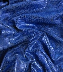Folienjersey - Reptil / Hologram - Royal