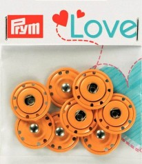 Prym Love Annäh-Druckknöpfe Kids Orange 16 mm 341882