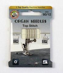 NÄHMASCHINEN NADELN Organ Needles Top Stitch 80/12