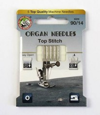 NÄHMASCHINEN NADELN Organ Needles Top Stitch 90/14
