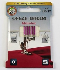 NÄHMASCHINEN NADELN Organ Needles Microtex 80/12
