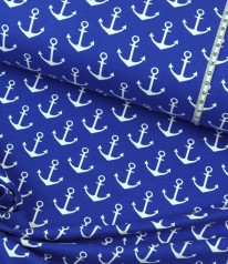 French Terry maritim ✩ Anchora ✩ Anker auf ROYAL BLAU