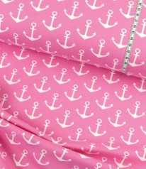 French Terry maritim ✩ Anchora ✩ Anker auf ROSA