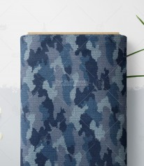 SOMMERSWEAT angeraut ► Knitted Camou ◄ Camouflage in Strickoptik BLAU